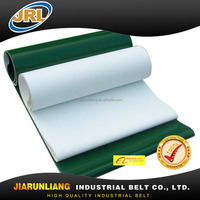 cheap price green conveyor belt for plastic recycling industry