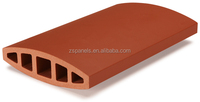 Eco-friendly material wall cladding dry hanging baguettes , terracotta wall stick, terracotta facade cladding louver