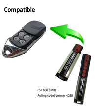 Compatible FSK 868.8mhz rolling code Sommer remote control replacement for garage door sliding door