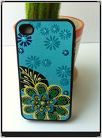 Design your own phone case for iphone 4 4s 4g/best protector flower cover case for iphone 4 stitch mobile cover
