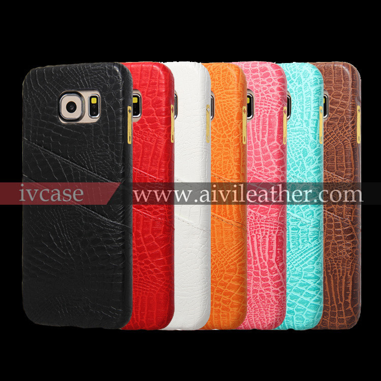 crocodile grain leather case cover for samsung galaxy s6 active