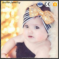 Baby Cute Sequins Bow Stripe Headband