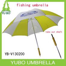 120cm manual open outdoor double ribs no handle golf fishing umbrella with custom print