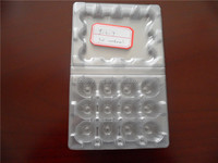 PVC hatching plastic quail egg tray for 12 coins