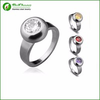 China Wholesale Interchangeable stone gay men mood ring design J5-0131