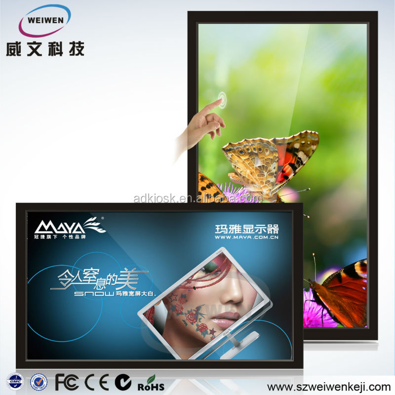 Hot LCD HD Wall mounted 46 and 56 inch 1920*1080 indoor andriod advertising screen