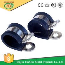 p type pipe clamps fixed with epdm rubber lining support