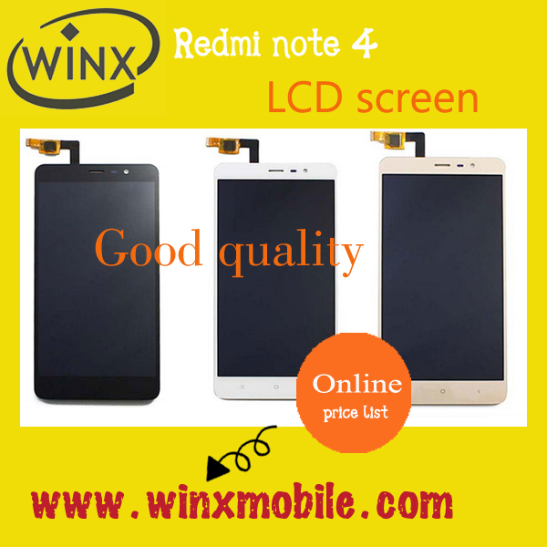 "55"" lcd screen replacement for Redmi note 4 note 3 black white Gold"