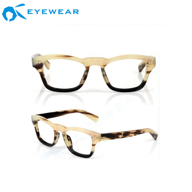 FDA CE Certificate China Eywear Manufacturers High Quality Buffalo Horn Eyeglasses Frames