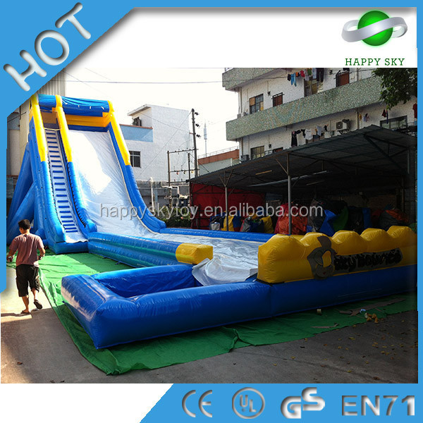 High quality blue color inflatable slide sandal of giant inflatable water slide for adult or kid amusement on summer day water