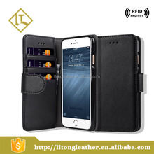 New design Leather cell phone mobile phone wallet leather case