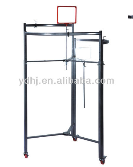 YD-T001 Multi-fonction Circular Stand Clothes Display Hanger Shelf Rack System for Supermarket Sale Yuanda Factory