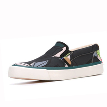 slip-on new design print flower canvas no lace shoes back inside have foam and elastic comfortable canvas fabric for shoes