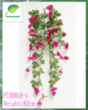 artificial flowers moring glory hanging wall vine for garden decoration