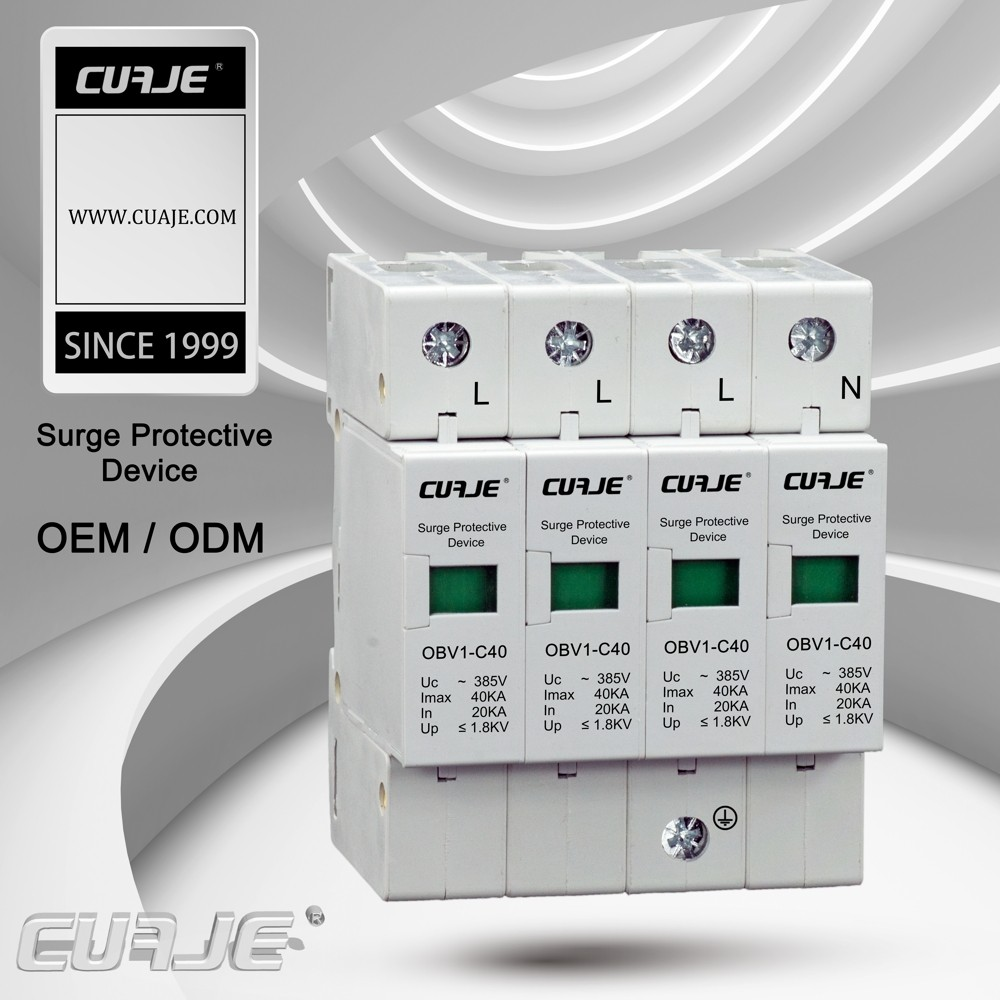 40kA SPD low voltage surge protector transient surge protector