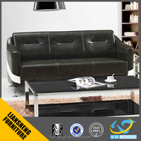 Modern design black and white leather sofa
