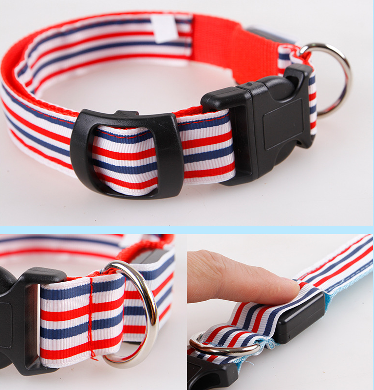 New pet product model stock supply LED flashing light pet collars for dog