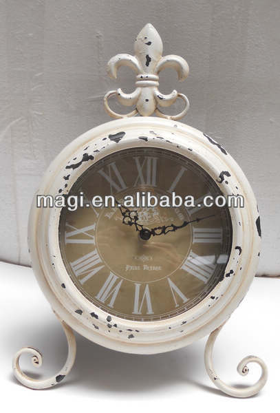 Wholesale decorative metal vintage table clock