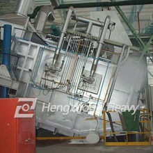 large capacity gas fired aluminum melting furnace for sale
