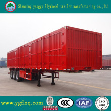 Trade assurance van type semi truck trailer / for express tri-axle cargo box trailer