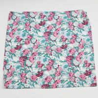 Rose Flower Printing Cotton Hanky For Custom Personal Requirement Pocket Square