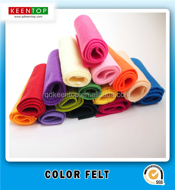SGS EN71 Colored Polyester Felt Punched Felt Non woven Fabric