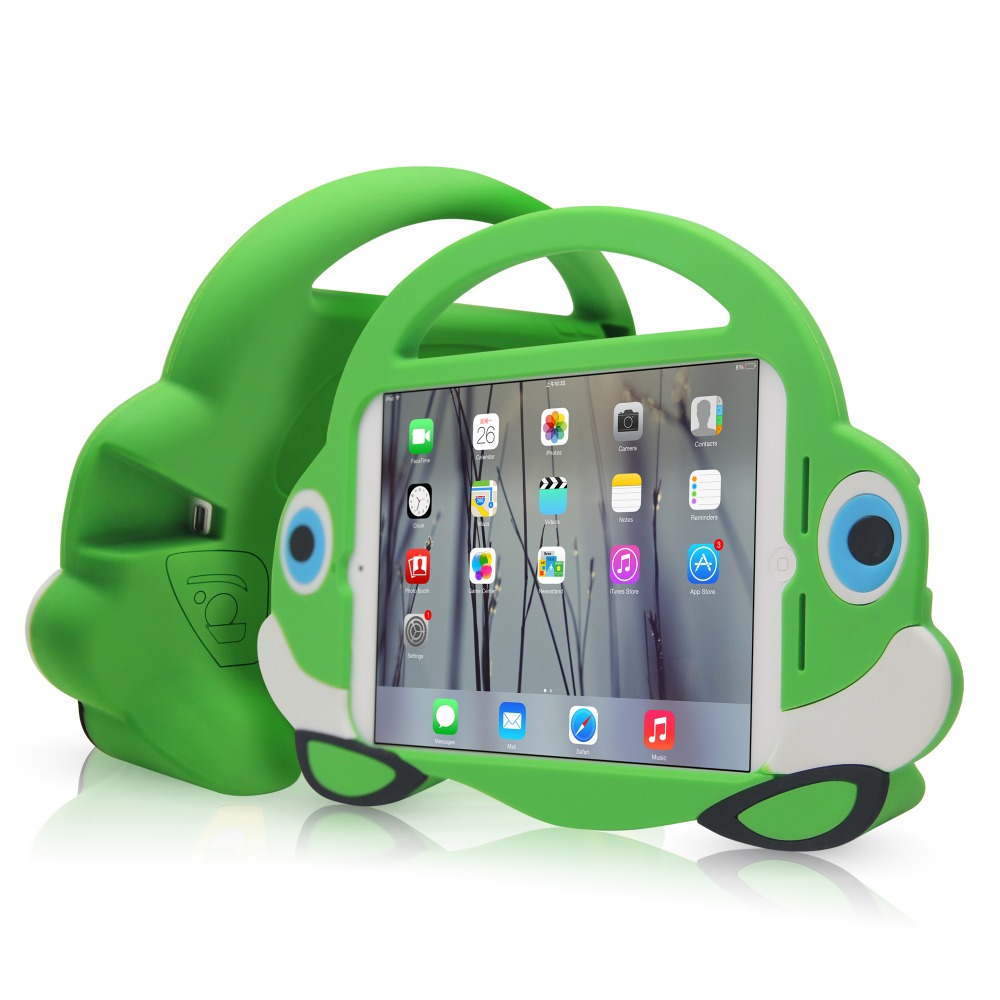 lower factory OEM silicone cover for ipad mini hot small car design for kid use case
