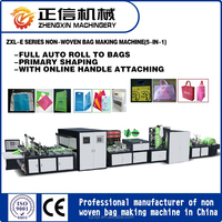 New online non woven handle bag making machine nonwoven fabric cutting machine