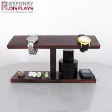 Beautiful Design Wooden Countertop Men Watch Display Showcase