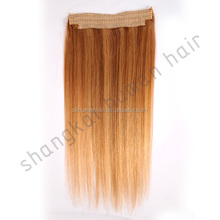 No Clips, no glue 100% human hair flip in hair extension guangzhou factory wholesale price
