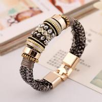 2016 Sales of High-grade Leather and Magnetic Buckle Jewelry Bracelet