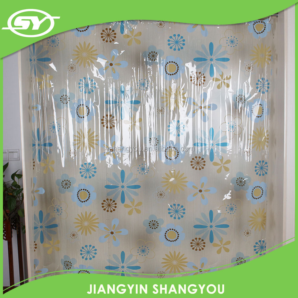 Printed PVC shower curtain