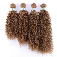 Stock Jerry Curly Hair Weave High Temperature Fiber Synthetic Hair Weave Pictures One Bundle