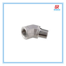 45D/90D stainless steel street female&male thread elbow adapter pipe fittings