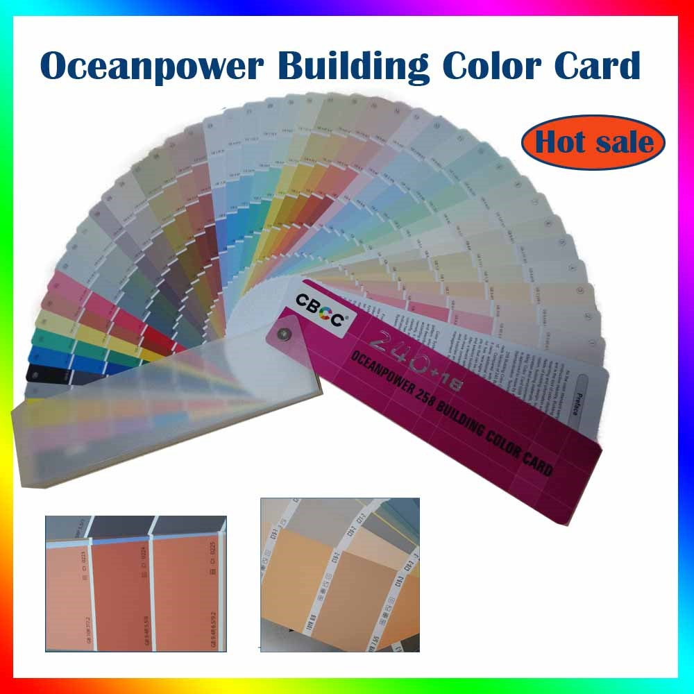 Oceanpower hot use wall building paint color code/color fandeck