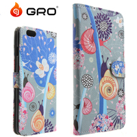 Water Printing Flip Wallet Leather Case For Iphone6,TPU PU Case For Iphone6