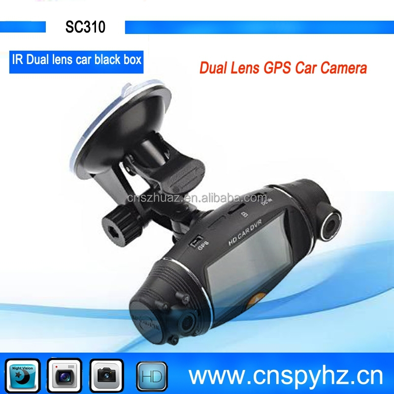 2.7 inch GPS Navigation Android Dual Lens Car DVR Dual Camera GPS Car Dvr car accidents recorder