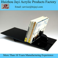 Clear Acrylic CD Holder with Sign Frame for Tabletop, Single Tier Rack,DIY clear acrylic cd dvd display stand