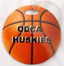 Personalized Vintage pvc Basketball Bag Tag(h-086)