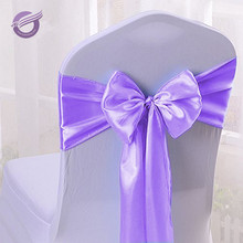 BS00032 Hot Sale wedding decoration Romantic Lavender satin chair sashes with bows tie