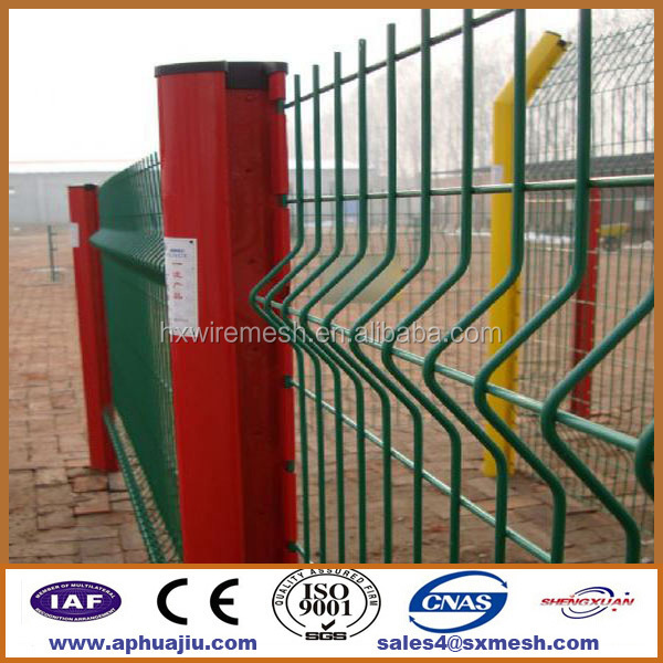 Ornamental metal fence caps / playground fence / 3d wire mesh en fence slats