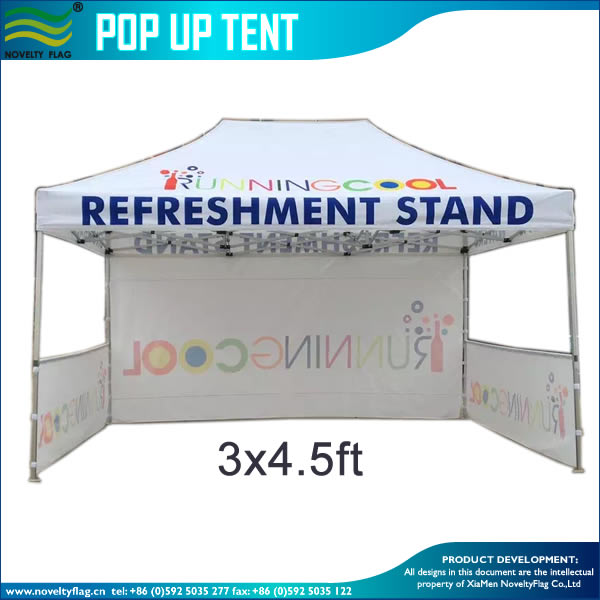 Waterproof canvas printed promotional foldable aluminum tent