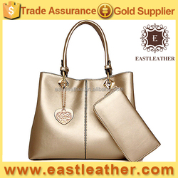 E1325 new arrvial wholesale trendy women gold bag with wallet