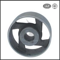 Chinese supply oem stainless steel metal drive flat belt pulley