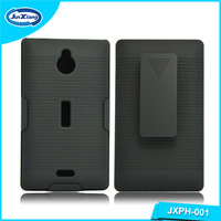 2016 hot sell back mobile phone cover case for Nokia x2 with belt clip kickstand