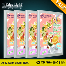 Edgelight A3, A4 Polished Display aluminum snap frame indoor advertising sign post with led light box