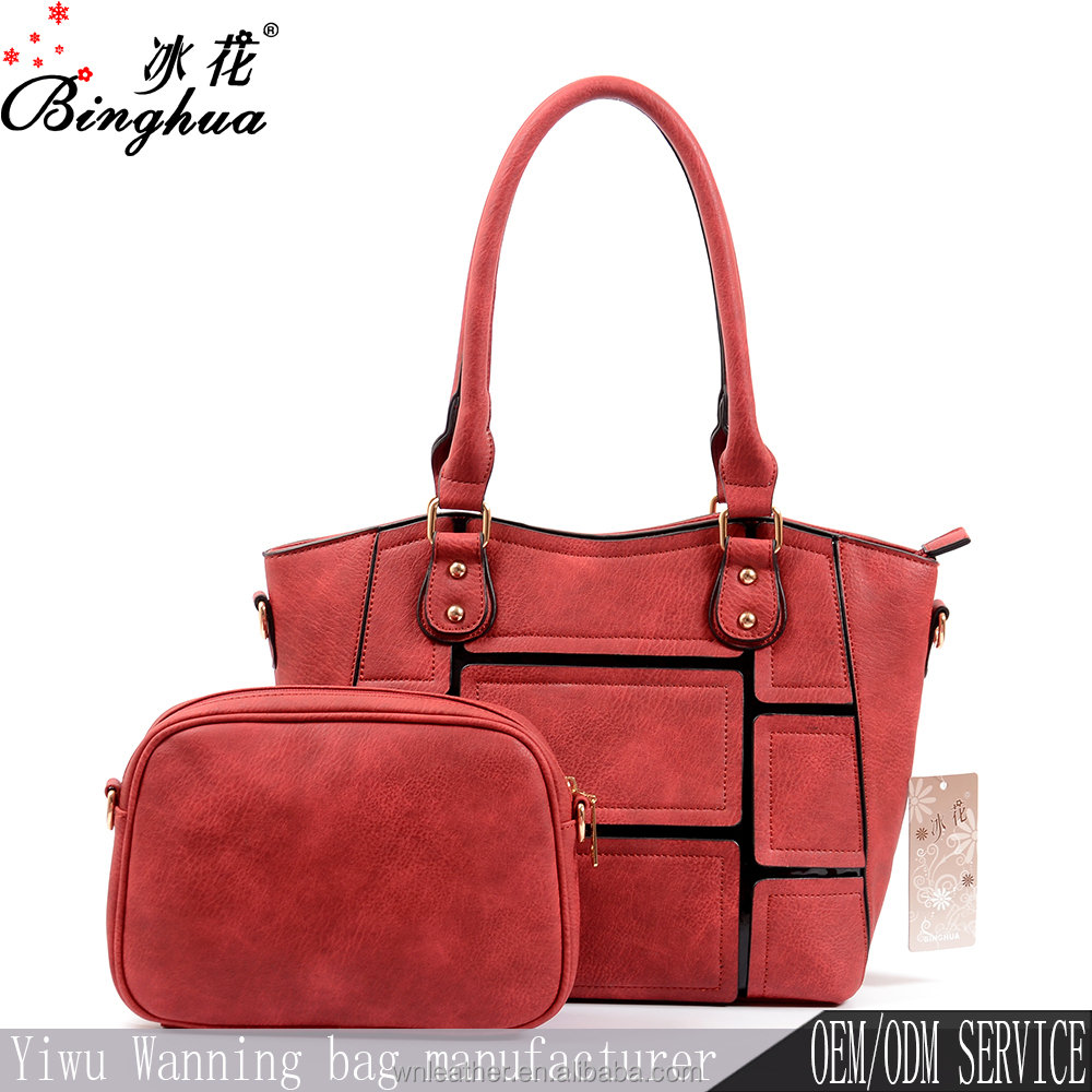 Yiwu handbag market women no name leather handbags, private label handbag manufacturer