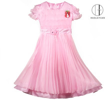 849 Pink wholesale latest Flower Girl Tulle Dress designs for flower girls children