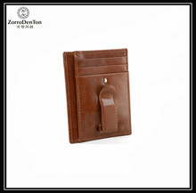 Classical RFID Blocking Mens Money Clip Leather Minimalist Front Pocket Wallet For Men