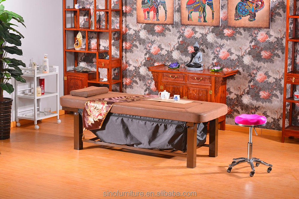 Spa full body thai sex body and portable massage bed table